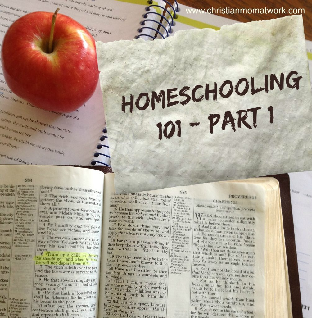 Homeschooling 101-Part 1