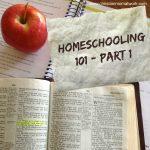 Homeschooling 101 - Part 1