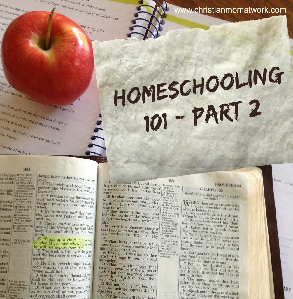 Homeschooling 101-Part 2