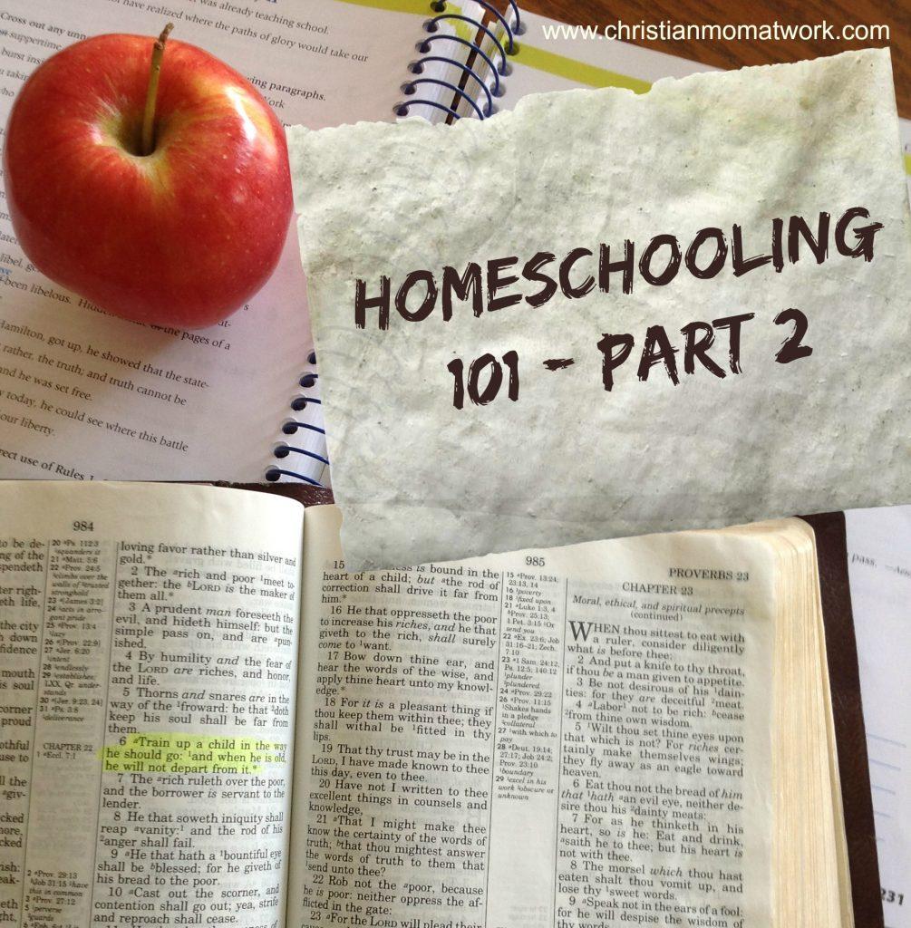 Homeschooling 101-Part 2