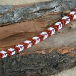 Red/White Chevron Bracelet